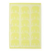 Keittiöpyyhe Finlayson Elefantti, 50x70cm, keltainen, 2 kpl