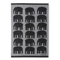 Keittiöpyyhe Finlayson Elefantti, 50x70cm, musta, valkoinen, 2 kpl