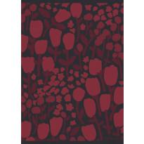 Keittiöpyyhe Finlayson Huiske, 50x70cm, musta/punainen, 2kpl