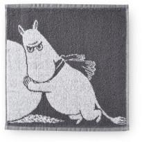 Käsipyyhe Finlayson Lumipallo-Muumipeikko, lahjapakkauksessa, 30x30 cm, harmaa
