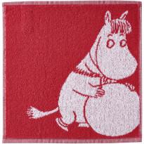 Käsipyyhe Finlayson Lumipallo-Niiskuneiti, lahjapakkauksessa, 30x30 cm, punainen