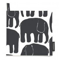 Patalaput Elefantti, musta/valkoinen, 22x22cm