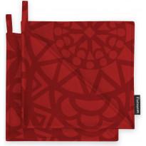 Patalappusetti Finlayson Rosetti, 2kpl 22x22 cm, punainen