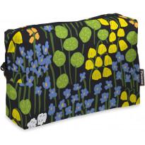 Toilettilaukku Finlayson Armas, 28x20cm, musta/keltainen/vihreä