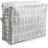 Toilettilaukku Finlayson Coronna, 20x9cm, harmaa/valkoinen
