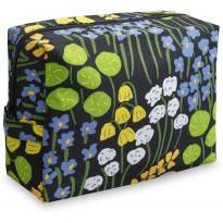 Toilettilaukku Finlayson Armas, 18x11cm, musta/keltainen/vihreä