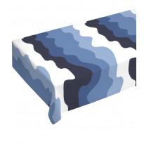 Pöytäliina Aalto, sininen/valkoinen, 145x250cm