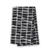 Kaitaliina Finlayson Coronna, 40x140cm, musta/valkoinen