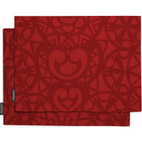 Tabletti Finlayson Rosetti, 2kpl 46x35 cm, punainen