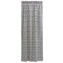 Sivuverho Coronna, mustavalkoinen, 140x250cm