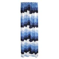 Sivuverho Aalto, sininen/valkoinen, 140x250cm