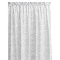Sivuverho Taimi, harmaa/valkoinen, 140x250cm