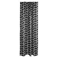 Sivuverho Elefantti, mustavalkoinen, 140x250cm