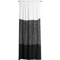 Sivuverho Finlayson, Kuru 140x250cm, musta/valkoinen