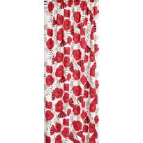 Sivuverho Finlayson Anni, 140x250cm, valkoinen/punainen