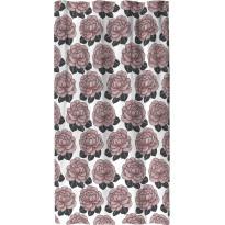 Sivuverho Finlayson Sylvi, 140x250cm, valkoinen/roosa