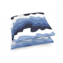 Koristetyynynpäällinen Aalto, sininen/valkoinen, 48x48cm