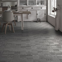 Vinyylimatto Forbo Modul'up Habitat, Mosaico Medium Grey, leveys 2m