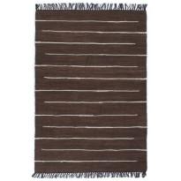 Chindi-matto, 160x230cm, käsinkudottu, puuvilla, ruskea