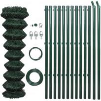 Verkkoaita tolpilla, galvanoitu teräs, 1.5x25m, vihreä