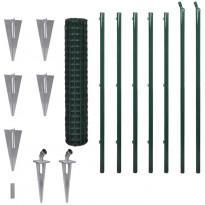 Verkkoaita, tolppa+maapiikki, teräs, 10x1.5m, vihreä