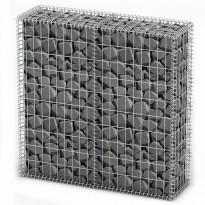 Gabion/kivikori kansilla, galvanoitu vaijeri, 100x100x30cm, Verkkokaupan poistotuote