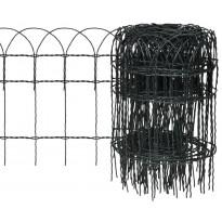 Puutarhan raja-aita, jauhemaalattu rauta, 25x0.4 m