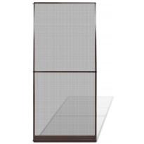 Saranoitu hyönteisverho oveen, 100x215 cm, ruskea
