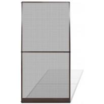 Saranoitu hyönteisverho oveen, 120x240 cm, ruskea