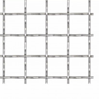 Puutarhan verkkoaita, ruostumaton teräs, 50x50cm, 21x21x2.5mm