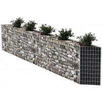 Kivikori, galvanoitu teräs, 300x30x100cm
