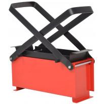 Brikettipuristin 34x14x14cm, teräs, musta/punainen