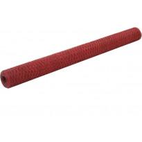 Kanaverkko teräs PVC pinnoitteella, silmäkoko 36mm, 36x1.5m, punainen, Verkkokaupan poistotuote