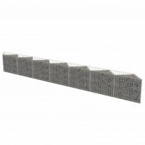 Kivikoriseinä, galvanoitu teräs, 450x30x50cm