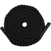Voimaköysi 15m, polyesteri, musta