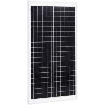 Aurinkopaneeli 30 W, monikiteinen alumiini ja turvalasi