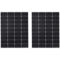 Aurinkopaneelit 2kpl, 100 W, yksikiteinen alumiini ja turvalasi
