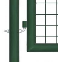 Puutarhan verkkoportti, teräs, 400x100cm, vihreä