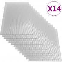 Polykarbonaattilevyt, 14 kpl, 4 mm, 121x60 cm