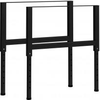 Säädettävät työpöydän rungot 2kpl metalli 85x(69-95,5)cm