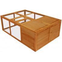 Kokoontaitettava puinen eläinhäkki, 50x150x100cm, Verkkokaupan poistotuote