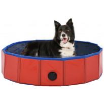 Kokoontaitettava koiran uima-allas, punainen, 80x20cm
