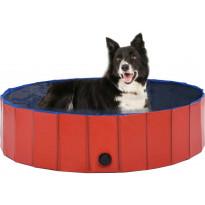 Kokoontaitettava koiran uima-allas, punainen, 120x30cm