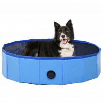 Kokoontaitettava koiran uima-allas, sininen, 80x20cm