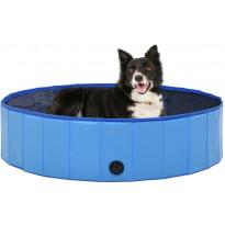 Kokoontaitettava koiran uima-allas, sininen, 120x30cm