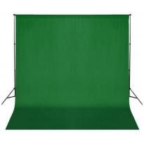 Taustakangas puuvilla, chromakey, 300x300 cm, vihreä