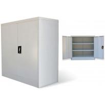 Toimistokaappi 2 ovella 90 cm harmaa metalli