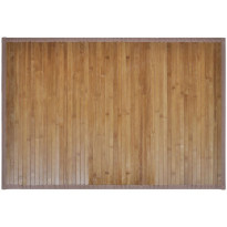 Kylpyhuoneen matto, 60x90cm, bambu, ruskea