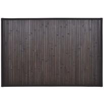 Kylpyhuoneen matto, 60x90cm, bambu, tummanruskea