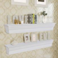 Seinähyllyt aaliyah 2 kpl valkoinen